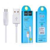 HOCO X1 ΚΑΛΩΔΙΟ MICRO USB 1m, ΛΕΥΚΟ