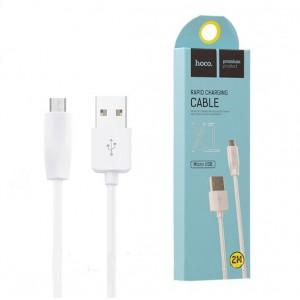 HOCO X1 ΚΑΛΩΔΙΟ MICRO USB 2m, ΛΕΥΚΟ