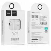 HOCO M1 ORIGINAL SERIES EARPHONE FOR APPLE, ΛΕΥΚΟ
