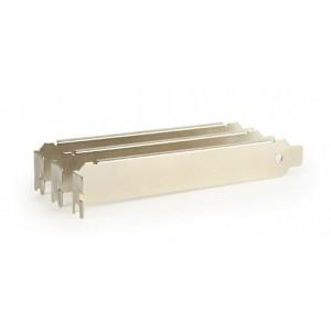 GEMBIRD PCI/PCI-E LOW PROFILE SLOT BRACKET, NON-VENTILATED (3 TEMΑΧΙΑ), ΑΣΗΜΙ