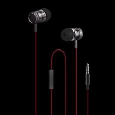 WESDAR R3 IN-EAR METAL EARPHONES, ΜΑΥΡΟ-ΚΟΚΚΙΝΟ