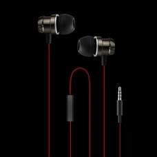 WESDAR R4 IN-EAR METAL EARPHONES, ΜΑΥΡO