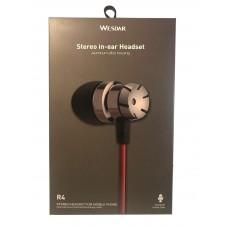 WESDAR R4 IN-EAR METAL EARPHONES, ROSE RED-WHITE