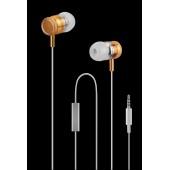 WESDAR R3 IN-EAR METAL EARPHONES ΧΡΥΣΟ-ΛΕΥΚΟ