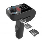 GEMBIRD BTT-02 BLUETOOTH CARKIT ΜΕ FM TRANSMITTER ΚΑΙ 2 x USB 3.1A