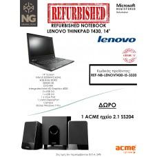 REFURBISHED NOTEBOOK LENOVO THINKPAD T430, INTEL i5 3320M, 14