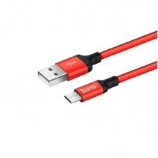 HOCO X14 ΚΑΛΩΔΙΟ MICRO USB ΦΟΡΤΙΣΗΣ & DATA 1m, RED-BLACK