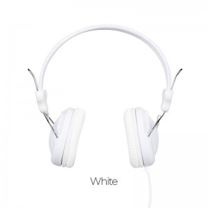 HOCO W5 MANNO HEADPHONE WITH MIC, WHITE