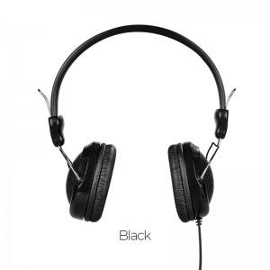 HOCO W5 MANNO HEADPHONE WITH MIC, BLACK
