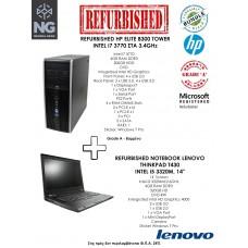 BUNDLE HP ELITE TOWER i7 3770 + LENOVO THINKPAD T430 i5 3320M