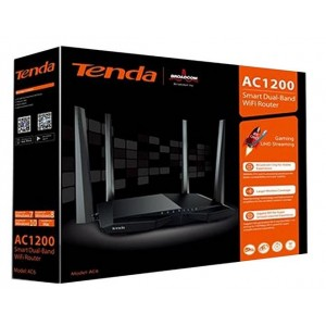 TENDA ROUTER AC6 DUAL BAND 1200Mbps 11ac.