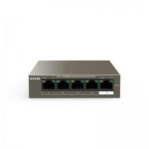 TENDA PoE SWITCH TEF1105P-4-38W 5-PORT 10/100Mbps, 4-PORT PoE