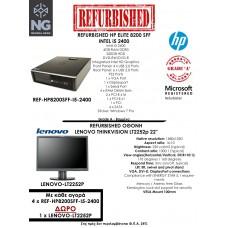 BUNDLE HP ELITE SFF i5 2400 + LENOVO THINKVISION LT2252p 22