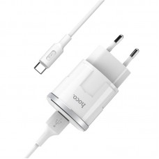 HOCO C37A THUNDER POWER USB CHARGER 2.4A ΜΕ ΚΑΛΩΔΙΟ TYPE-C