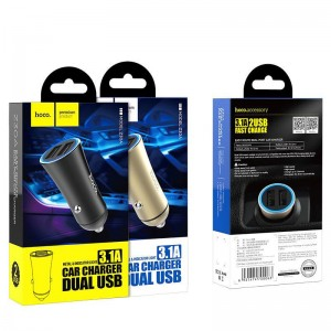 HOCO Z30A EASY ROUTE DUAL PORT USB CAR CHARGER ΜΑΥΡΟ