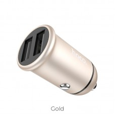 HOCO Z30A EASY ROUTE DUAL PORT USB CAR CHARGER ΧΡΥΣΟ