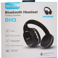WESDAR BH3 BLUETOOTH HEADPHONES, ΜΑΥΡΟ